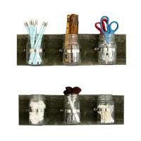 Image of Triple Mason Jar Wall Planters